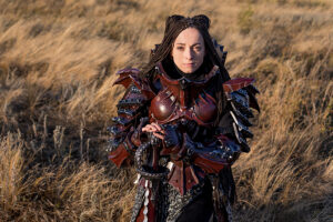 Lady Knight in Leather Armor